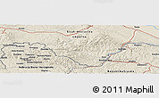 Shaded Relief Panoramic Map of Bratića Brdo