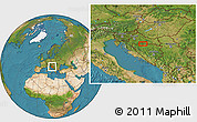 """Satellite Location Map of the area around 45°10'22""""N,17°4'30""""E"""