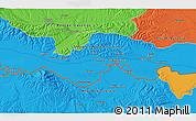 Political 3D Map of Alaginci