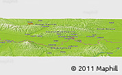 "Physical Panoramic Map of the area around 45° 10' 22"" N, 17° 55' 29"" E"