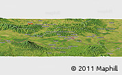 Satellite Panoramic Map of Bijele Bare