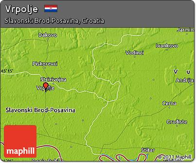 Physical Map of Vrpolje