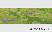 Satellite Panoramic Map of Privlaka