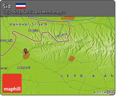 Physical Map of Šid
