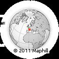 Outline Map of Brive-la-Gaillarde, rectangular outline