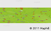 """Physical Panoramic Map of the area around 45°10'22""""N,20°28'30""""E"""