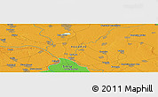 """Political Panoramic Map of the area around 45°10'22""""N,20°28'30""""E"""