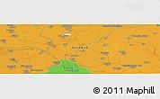 Political Panoramic Map of Banatsko Novo Selo