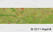 Satellite Panoramic Map of Kačarevo