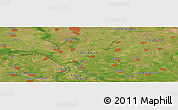 Satellite Panoramic Map of Banatsko Novo Selo
