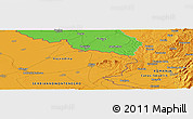 """Political Panoramic Map of the area around 45°10'22""""N,21°19'30""""E"""