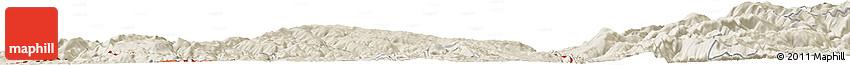 Shaded Relief Horizon Map of Dalina