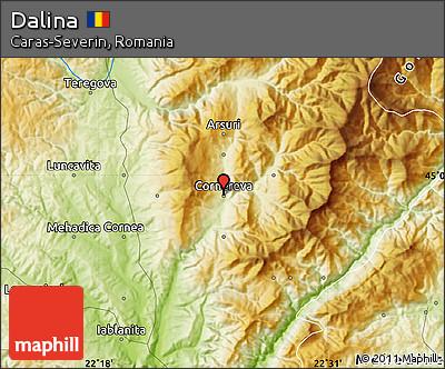 Physical Map of Dalina