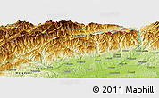 Physical Panoramic Map of Lupeni