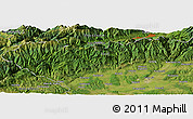 "Satellite Panoramic Map of the area around 45°10'22""N,23°1'29""E"