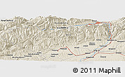 """Shaded Relief Panoramic Map of the area around 45°10'22""""N,23°1'29""""E"""