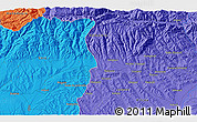 Political 3D Map of Băluţoaia