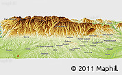 Physical Panoramic Map of Buleta