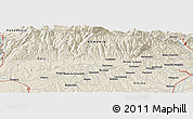 Shaded Relief Panoramic Map of Băluţoaia