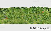 "Satellite Panoramic Map of the area around 45°10'22""N,24°43'30""E"