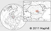 Blank Location Map of Sinaia