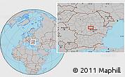 Gray Location Map of Sinaia