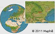 Satellite Location Map of Sinaia