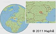 Savanna Style Location Map of Sinaia