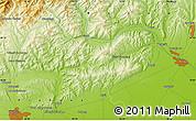Physical Map of Sfîntu Gheorghe