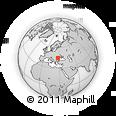 Outline Map of Buzău, rectangular outline