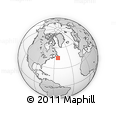 """Outline Map of the Area around 45° 10' 22"""" N, 53° 28' 30"""" W, rectangular outline"""