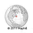 """Outline Map of the Area around 45° 10' 22"""" N, 56° 1' 29"""" W, rectangular outline"""