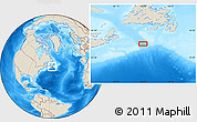 """Shaded Relief Location Map of the area around 45°10'22""""N,56°52'30""""W"""