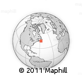 """Outline Map of the Area around 45° 10' 22"""" N, 56° 52' 30"""" W, rectangular outline"""