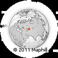 Outline Map of Kantubek, rectangular outline