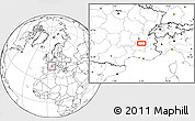 Blank Location Map of Romans-sur-Isère