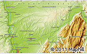 """Physical Map of the area around 45°10'22""""N,5°10'30""""E"""