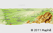 """Physical Panoramic Map of the area around 45°10'22""""N,5°10'30""""E"""