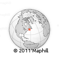 """Outline Map of the Area around 45° 10' 22"""" N, 63° 40' 30"""" W, rectangular outline"""