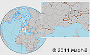 Gray Location Map of Meylan