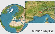 Satellite Location Map of Meylan