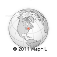 Outline Map of Ottawa, rectangular outline