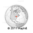Outline Map of Denbigh, rectangular outline