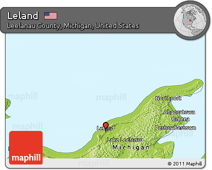 Free Physical Panoramic Map Of Leland