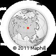 Outline Map of Hayrhan, rectangular outline