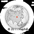Outline Map of Tögörigiin Hüryee, rectangular outline