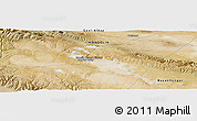 Satellite Panoramic Map of Tsagaan-Uul