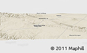 Shaded Relief Panoramic Map of Tsagaan-Uul