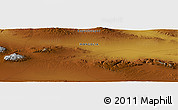 """Physical Panoramic Map of the area around 45°10'22""""N,99°31'30""""E"""