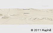 """Shaded Relief Panoramic Map of the area around 45°10'22""""N,99°31'30""""E"""